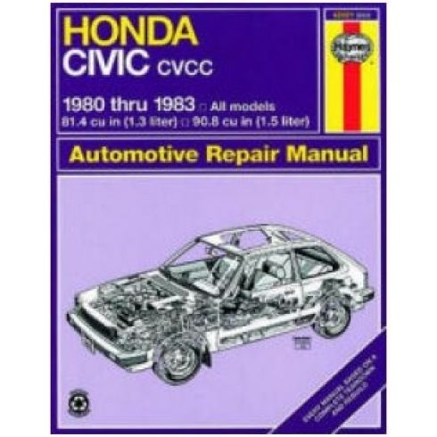 1980-83 Honda Civic CVCC Haynes Repair Manual