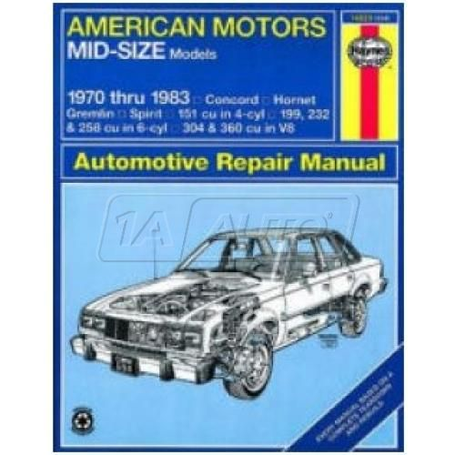 1970-83 AMC Gremlin Sprint Hornet Haynes Repair Manual