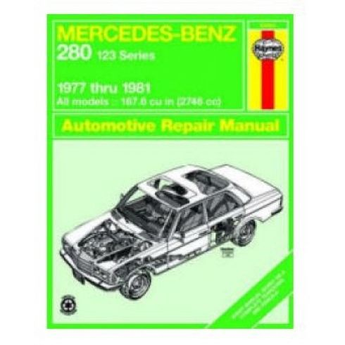 1977-81 Mercedes Benz 280 Haynes Repair Manual for 123 Series