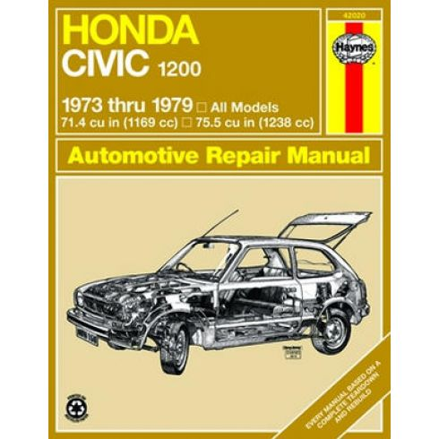 1973-79 Honda Civic 1200 Haynes Repair Manual