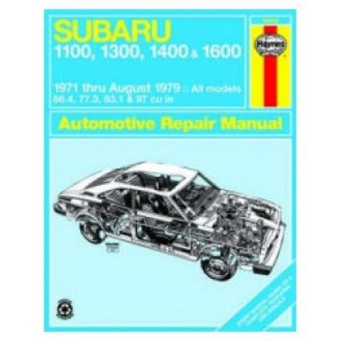 1971-79 Subaru 1100 1300 1400 1600 Haynes Repair Manual