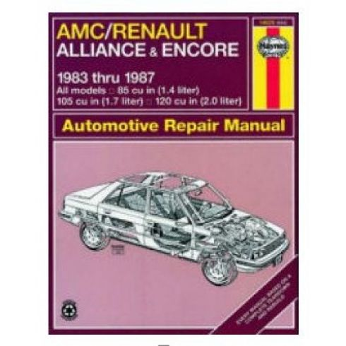 1983-87 AMC Renault Alliance Haynes Repair Manual