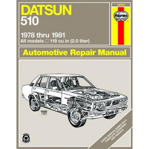 1978-81 Datsun 510 Haynes Repair Manual
