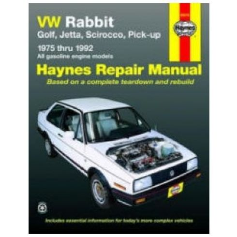 1975-92 VW Rabbit Jetta Scirocco Golf Haynes Repair Manual (Except Diesel Models)