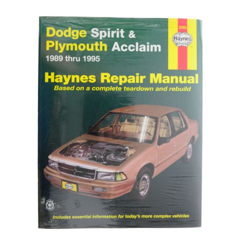 1989-95 Dodge and Plymouth Acclaim Haynes Repair Manual