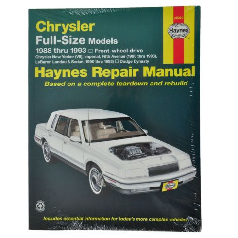 Chrysler Full Size Sedan with FWD Haynes Repair Manual