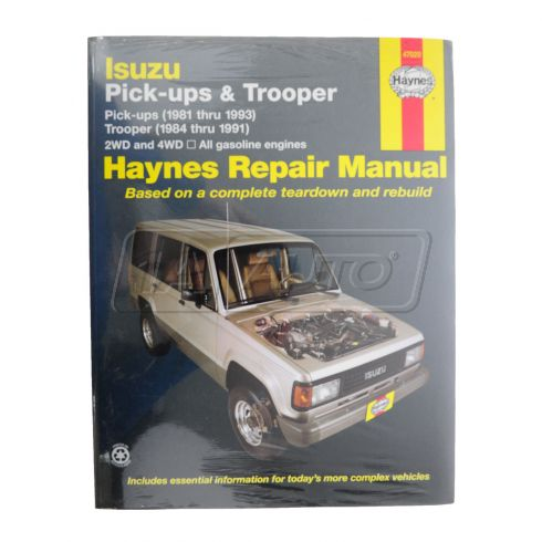 1981-93 Isuzu Trooper and Pickup Haynes Repair Manual