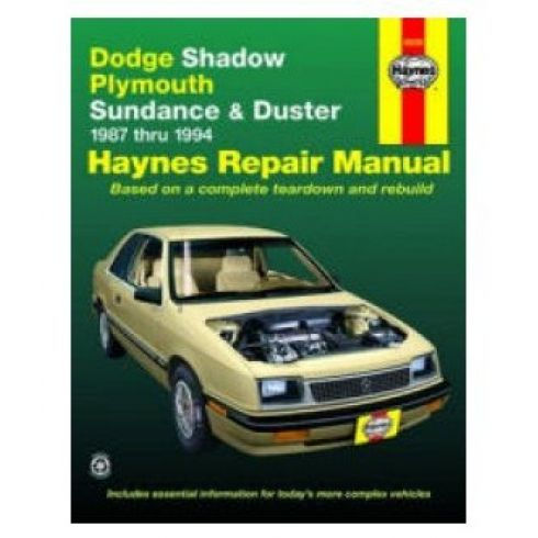 1987-94 Dodge Shadow and Plymouth Sundance Haynes Repair Manual