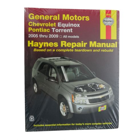05-09 Chevy Equinox; 06-09 Pontiac Torrent Haynes Repair Manual