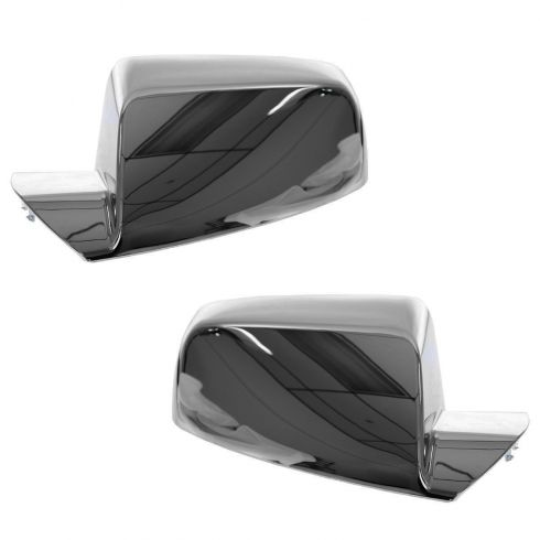 10-12 Chevy Equinox, GMC Terrain Chrome Mirror Cover Upgrade PAIR (Clip On)
