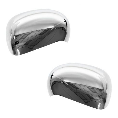 09-12 Nissan Cube; 11-12 Juke Chrome Mirror Cover Upgrade PAIR (Clip On)