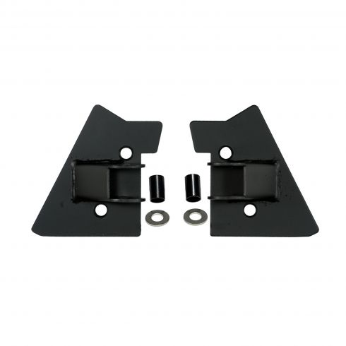 Mirror Relocation Brackets, Black, 97-02 Jeep Wrangler (TJ)