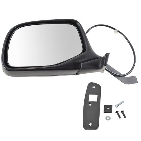1992-97 Ford Bronco F-Series Pickup Black & Chrome Power Mirror LH