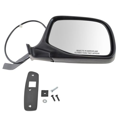 1992-97 Ford Bronco F-Series Pickup Black & Chrome Power Mirror RH