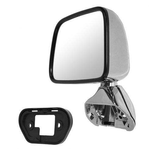 87-88 Toyota Pickup; 87-89 4Runner Chrome Manual Mirror LH