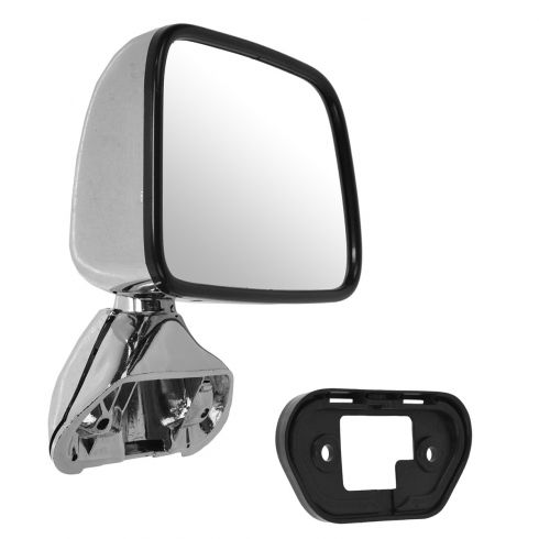 87-88 Toyota Pickup; 87-89 4Runner Chrome Manual Mirror RH
