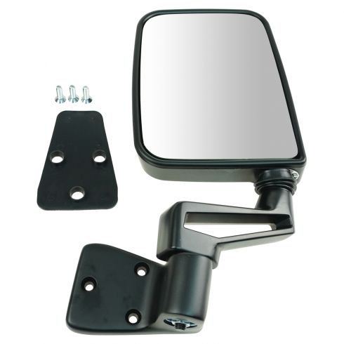 Jeep Manual Black Folding Mirror LH