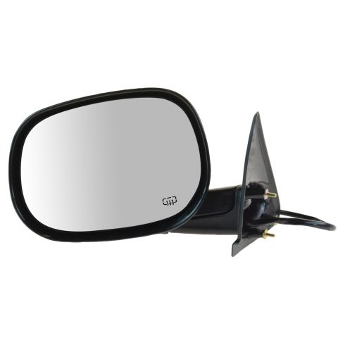 1998-00 Dodge Durango Power Heated Mirror Black LH