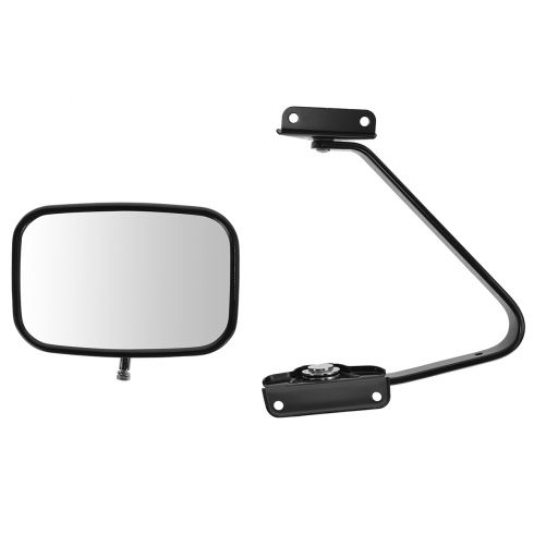 80-96 Bronco, F150; 80-97 F250, F350, F450 Black Manual Swing lock (5 x 8) Mirror LH = RH