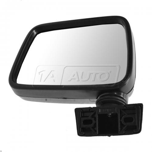 88-93 Isuzu Rodeo Black Manual Mirror LH