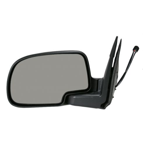 00-02 GM Truck Power Mirror Heated Pud Txted Blk L