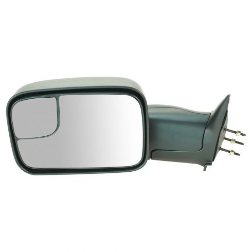 94-02 Dodge PU 7x10 Textured Manual Tow Mirror LH