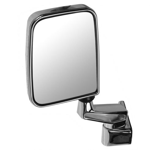 1987-02 Jeep Wrangler Mirror (Full and Half Doors) Manual Chrome Folding LH