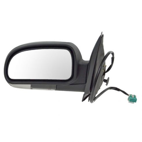 Mirror POWER HEATED Manual Folding with CLEAR TURN SIGNAL & TEXTURED FINISH Driver Side