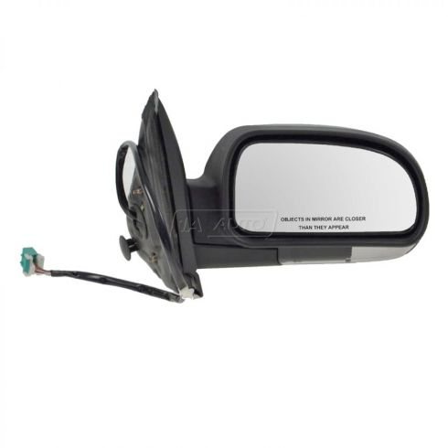 Mirror POWER HEATED Manual Folding with CLEAR TURN SIGNAL & TEXTURED FINISH Passenger Side
