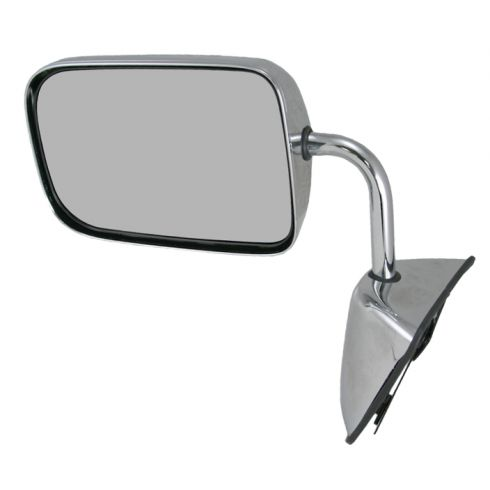 88-93 Dodge Ram Charger Pickup Mirror Chrome Folding Manual LH