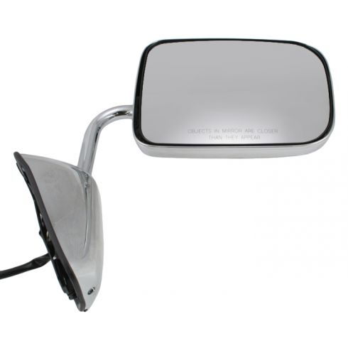 88-93 Dodge Ram Charger Pickup Mirror Chrome Folding Power RH