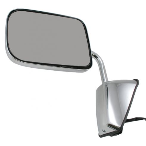 88-93 Dodge Ram Charger Pickup Mirror Chrome Folding Power LH