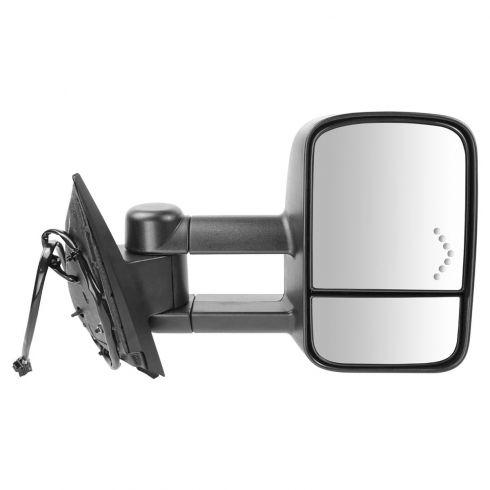 2007-09 Chevy Silverado, GMC Sierra Pwr Htd Dual Arm w/Chevron Signal Mirror RH