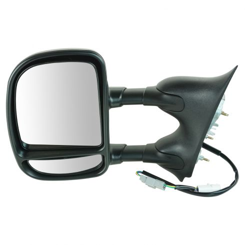 99-07 Ford Truck Pwr Dual Swing Arm Tow Mirror LH
