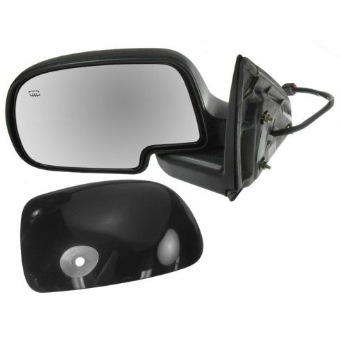 2000-07 GM Truck Power Mirror Heated Pud Gloss Blk LH
