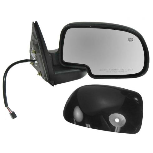 2000-07 GM Truck Power Mirror Heated Pud Gloss Blk RH
