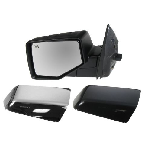 2006-10 Ford Explorer, Mountaineer; 2007-10 Sport Trac Pwr Htd Puddle Light Mirror LH (Chrme & PTM Caps)