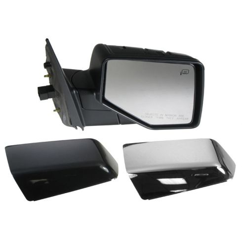 2006-10 Ford Explorer, Mountaineer; 2007-10 Sport Trac Pwr Htd Puddle Light Mirror RH (Chrme & PTM Caps)