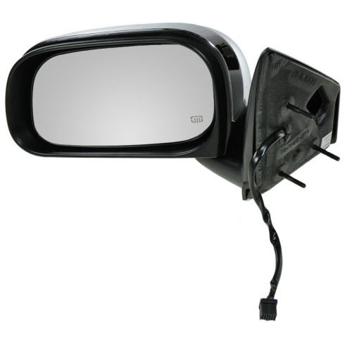 2007-09 Chrysler Aspen (GTS Code) Folding Heated Power Black/Chrome Mirror LH