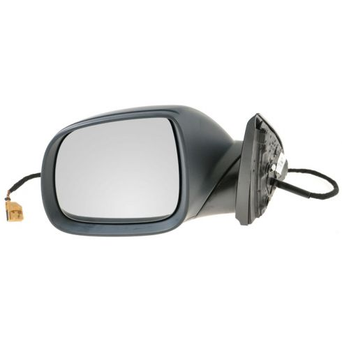 2008-10 VW Touareg Power Heated w/Turn Signal & Puddle Light Flat Black Cover Mirror LH