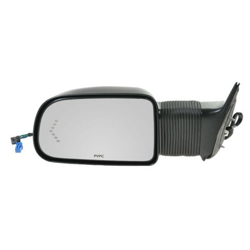 03-07 Silverado, Sierra; 03-06 SUV Suburban Power Extending Heated Turn Signal Camper Style Mirror L