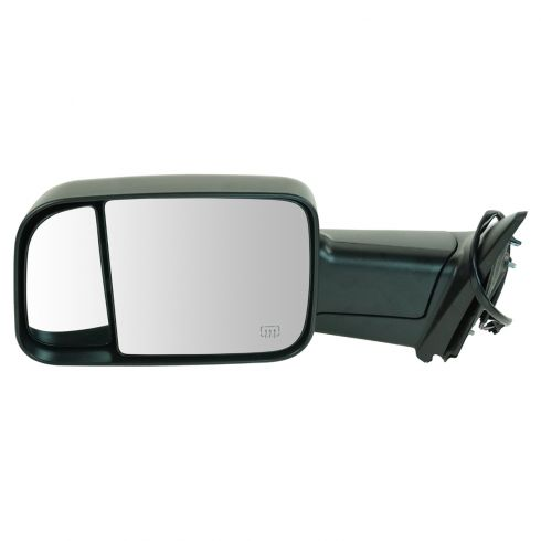 09-11 Dodge Ram 1500 (exc Mega Cab); 10-11 Dodge 2500 3500 Pwr Htd Flip Up Towing Textured Mirror LH