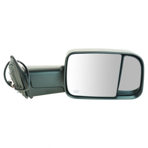 09-11 Dodge Ram 1500 (exc Mega Cab); 10-11 Dodge 2500 3500 Pwr Htd Flip Up Towing Textured Mirror RH