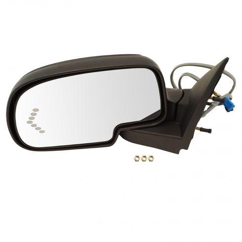 03-07 Silverado, Sierra; 00-05 Suburban; 03-06 SUV Pwr, Htd, TS in Glass, Textured Mirror LH
