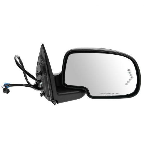 03-07 Silverado, Sierra; 00-05 Suburban; 03-06 SUV Pwr, Htd, TS in Glass, Textured Mirror RH
