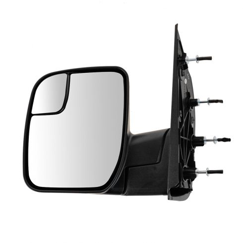 10-13 Ford Van (w/Integrated Spotter) Textured Black Manual Mirror LH