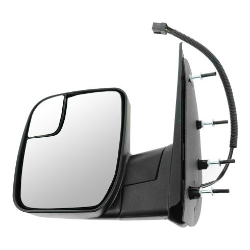 10-13 Ford Van (w/Integrated Spotter) Textured Black Power Mirror LH