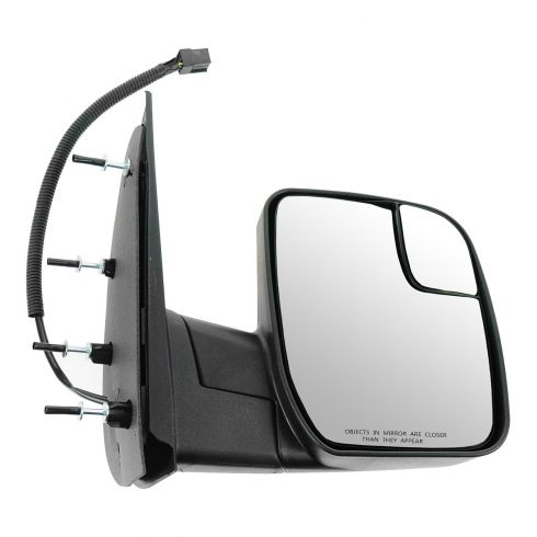 10-13 Ford Van (w/Integrated Spotter) Textured Black Power Mirror RH