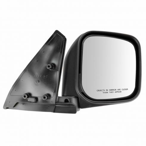 92-00 Mitsubishi Montero; 99-00 Montero Sport Manual Black Mirror RH