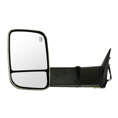 09-12 Dodge Ram 1500 (exc Mega Cab); 10-12 Dodge 2500 3500 Pwr Htd PL TS Memory Tow Chrome Mirror LH